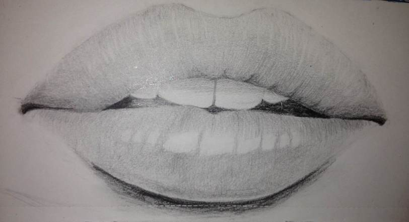 Mouth Sketch in Pencil | FionaPlumArt